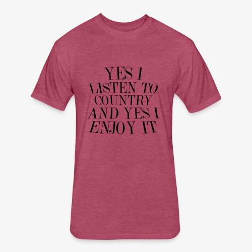 Country Listener - Fitted Cotton/Poly T-Shirt by Next Level