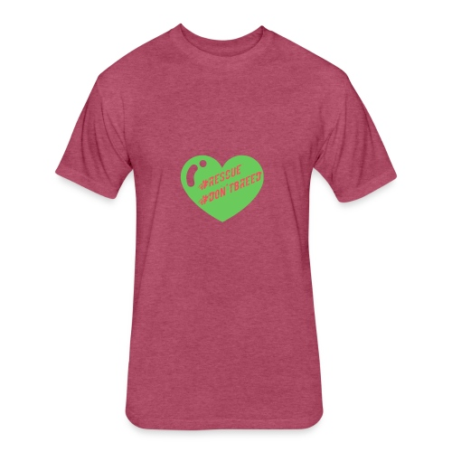 Rescue Don't Breed 2 - Fitted Cotton/Poly T-Shirt by Next Level
