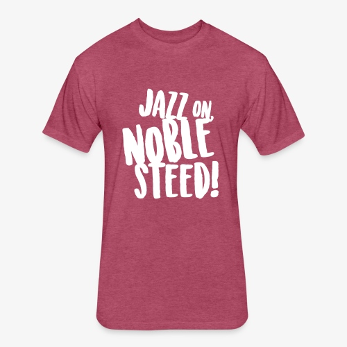 MSS Jazz on Noble Steed - Fitted Cotton/Poly T-Shirt by Next Level