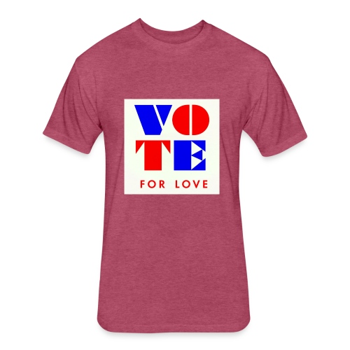 vote4love-sample - Fitted Cotton/Poly T-Shirt by Next Level