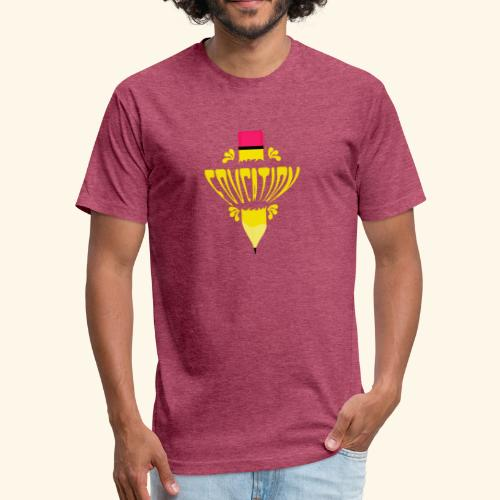 education pencil - Fitted Cotton/Poly T-Shirt by Next Level