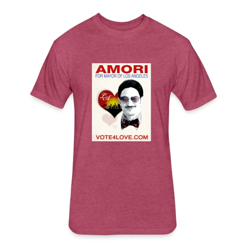 Amori for Mayor of Los Angeles eco friendly shirt - Fitted Cotton/Poly T-Shirt by Next Level