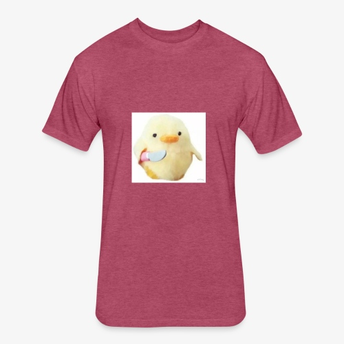 Cute Chicken with Knife Shirt! - Fitted Cotton/Poly T-Shirt by Next Level