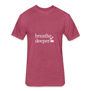 Breathe Deeper Lotus - Fitted Cotton/Poly T-Shirt by Next Level