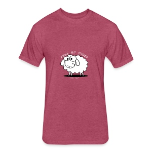 Feed My Sheep - Fitted Cotton/Poly T-Shirt by Next Level