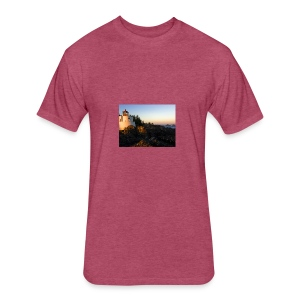 Lighthouse - Fitted Cotton/Poly T-Shirt by Next Level