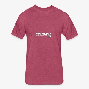 Coldwave Logo with (half) Vinyl - White - Fitted Cotton/Poly T-Shirt by Next Level