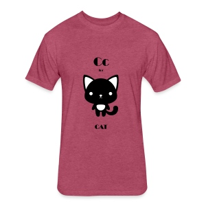 CAT_BW - Fitted Cotton/Poly T-Shirt by Next Level