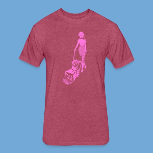 Roto-Hoe pink. - Fitted Cotton/Poly T-Shirt by Next Level