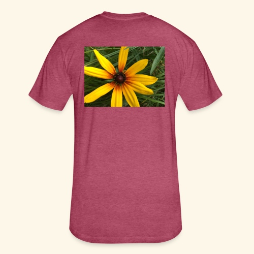 Yellow flower - Fitted Cotton/Poly T-Shirt by Next Level