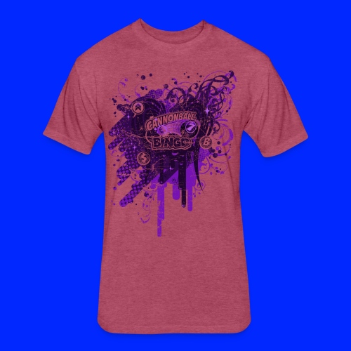 Vintage Cannonball Bingo Drip Purple - Fitted Cotton/Poly T-Shirt by Next Level