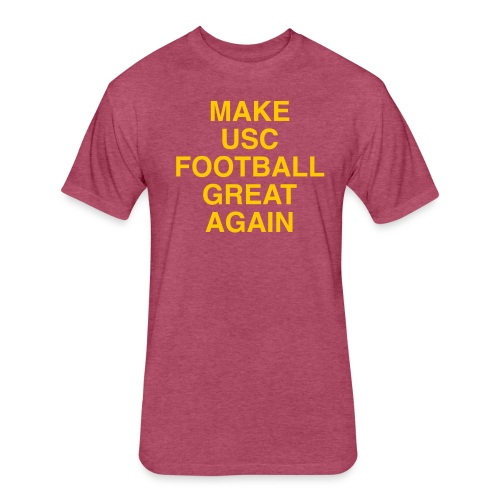 Make USC Football Great Again - Fitted Cotton/Poly T-Shirt by Next Level