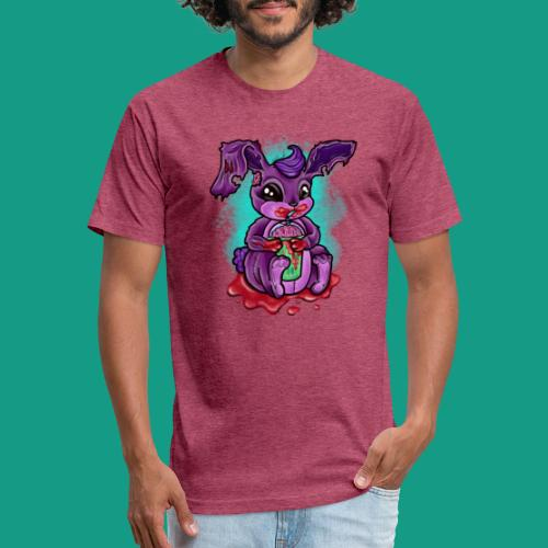 Zombunny - Fitted Cotton/Poly T-Shirt by Next Level