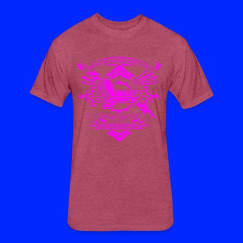 Vintage Leet Sauce Studios Crest Pink - Fitted Cotton/Poly T-Shirt by Next Level