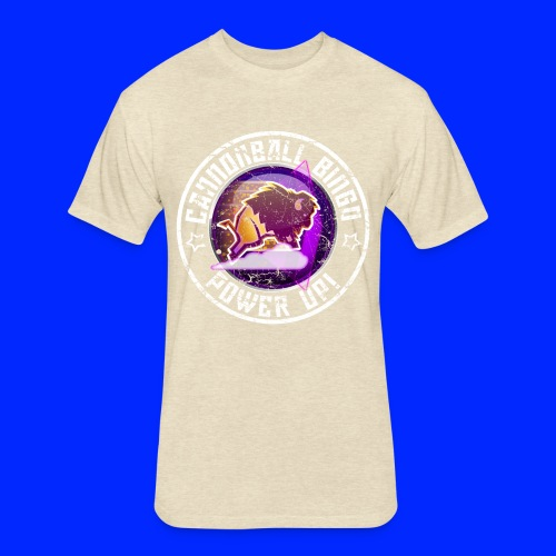 Vintage Stampede Power-Up Tee - Fitted Cotton/Poly T-Shirt by Next Level