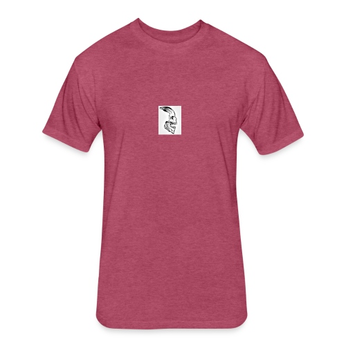 Skull - Fitted Cotton/Poly T-Shirt by Next Level