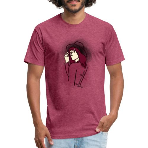 Maroon Eyes - Fitted Cotton/Poly T-Shirt by Next Level