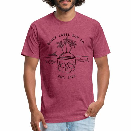 Skull Island Black Label SUP Co. - Fitted Cotton/Poly T-Shirt by Next Level