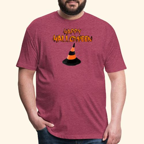 HAPPY HALLOWEEN WITCH HAT TEE - Fitted Cotton/Poly T-Shirt by Next Level