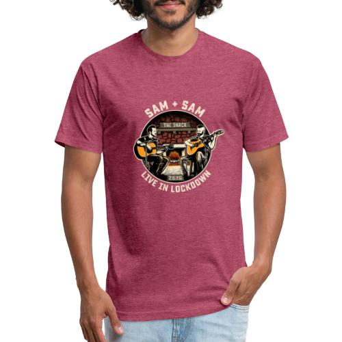 Sam + Sam Live in Lockdown - Fitted Cotton/Poly T-Shirt by Next Level