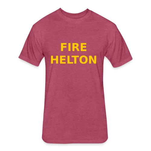 Fire Helton Shirt - Fitted Cotton/Poly T-Shirt by Next Level