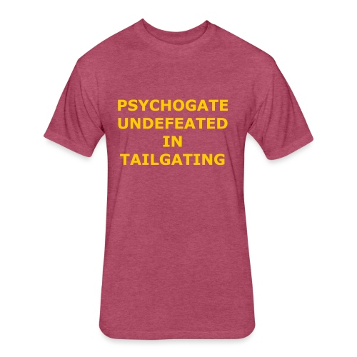 Undefeated In Tailgating - Fitted Cotton/Poly T-Shirt by Next Level