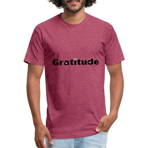 Gratitude - Fitted Cotton/Poly T-Shirt by Next Level