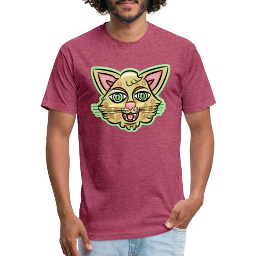Happy Cat Gold - Fitted Cotton/Poly T-Shirt by Next Level