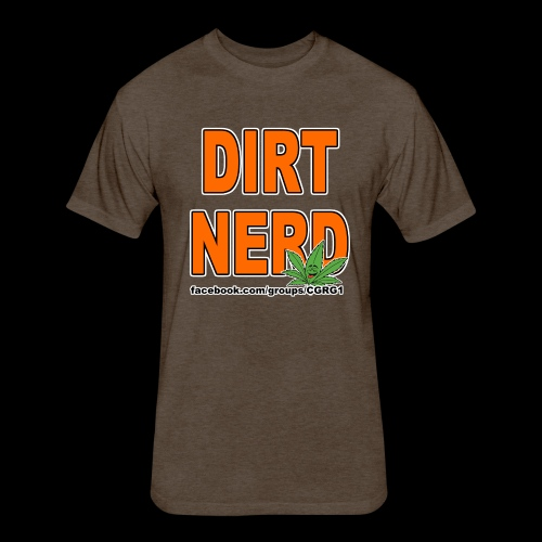 Dirt Nerd - Fitted Cotton/Poly T-Shirt by Next Level