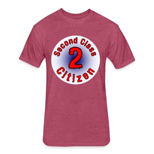 2nd Class Citizen Logo (Light) - Fitted Cotton/Poly T-Shirt by Next Level