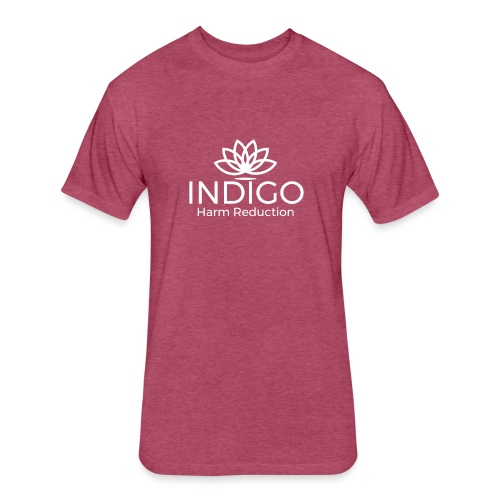 INDIGO - Fitted Cotton/Poly T-Shirt by Next Level