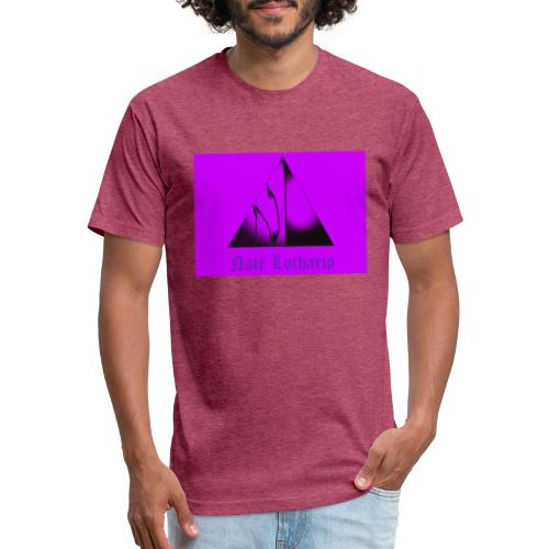 Purple Logo 2 - Fitted Cotton/Poly T-Shirt by Next Level