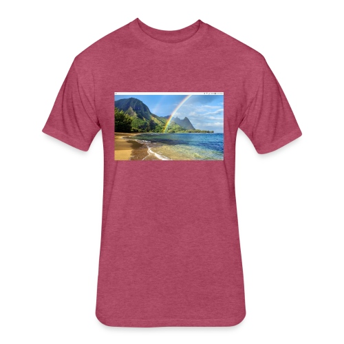 Hawiy - Fitted Cotton/Poly T-Shirt by Next Level