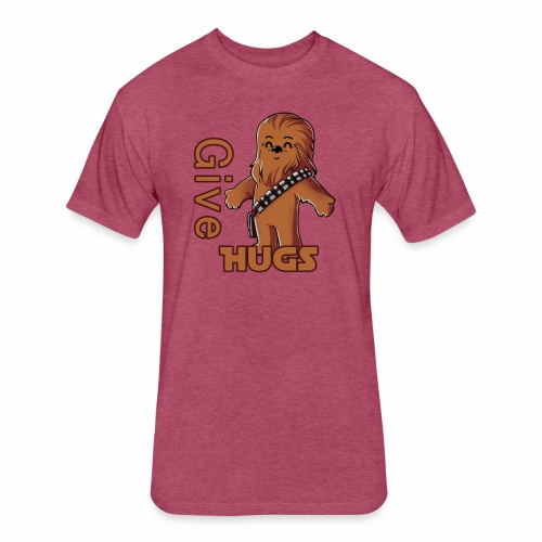 Give Hugs - Fitted Cotton/Poly T-Shirt by Next Level