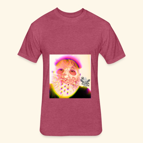 Mask on - Fitted Cotton/Poly T-Shirt by Next Level