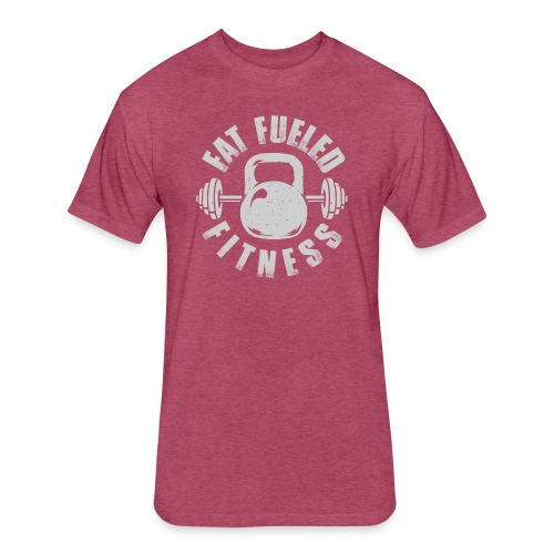 Fat Fueled Fitness - Fitted Cotton/Poly T-Shirt by Next Level