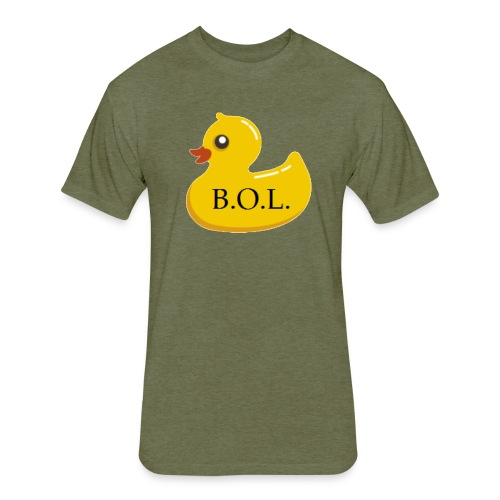 Official B.O.L. Ducky Duck Logo - Fitted Cotton/Poly T-Shirt by Next Level
