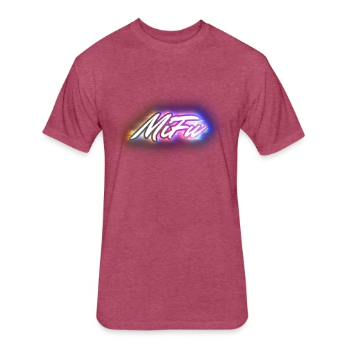 MiFu Logo - Fitted Cotton/Poly T-Shirt by Next Level