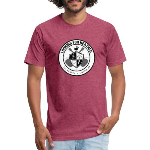 Looking For Heather - Crest Logo - Fitted Cotton/Poly T-Shirt by Next Level