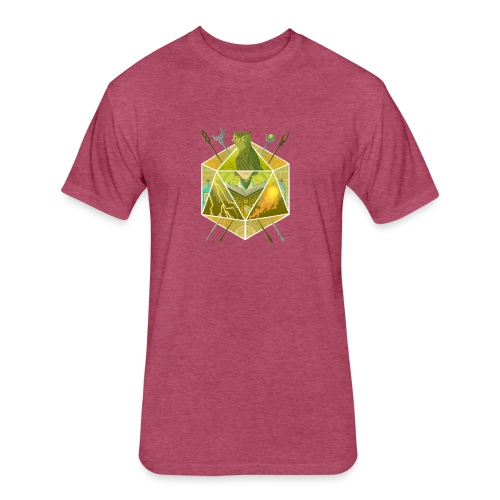 D20 Wizard - Fitted Cotton/Poly T-Shirt by Next Level