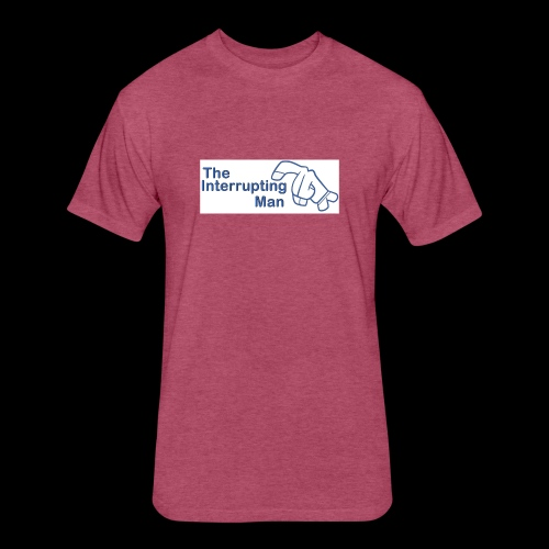 The Inturrepting Man - Fitted Cotton/Poly T-Shirt by Next Level
