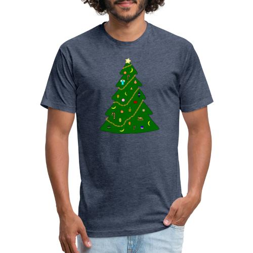 Christmas Tree For Monkey - Fitted Cotton/Poly T-Shirt by Next Level