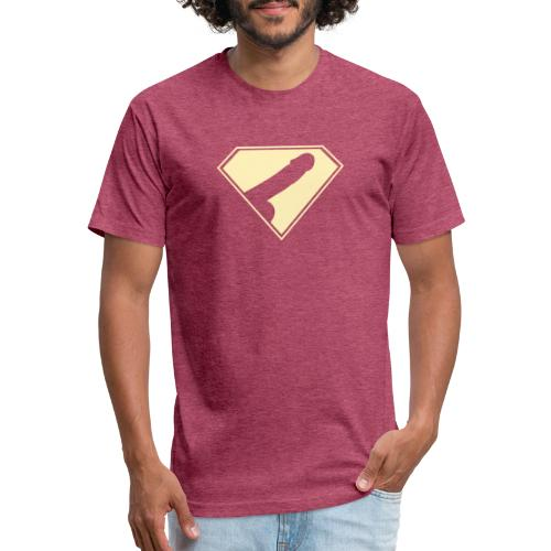 Supercock 1 - Fitted Cotton/Poly T-Shirt by Next Level