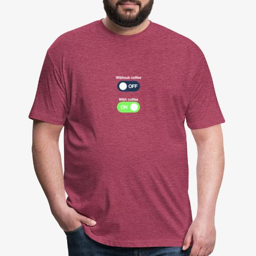 Coffee Lover T-Shirt - Fitted Cotton/Poly T-Shirt by Next Level