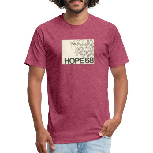 Vintage Focus: HOPE Logo - Fitted Cotton/Poly T-Shirt by Next Level