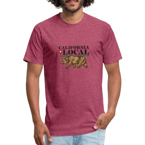 California Local Wear The Bear - Fitted Cotton/Poly T-Shirt by Next Level