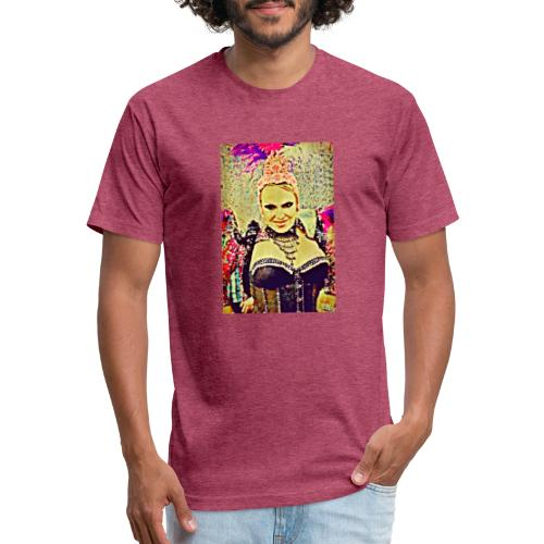 Lady in costume - Fitted Cotton/Poly T-Shirt by Next Level