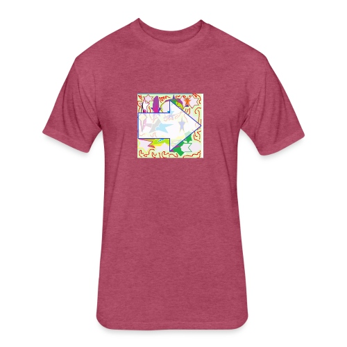 shapes - Fitted Cotton/Poly T-Shirt by Next Level