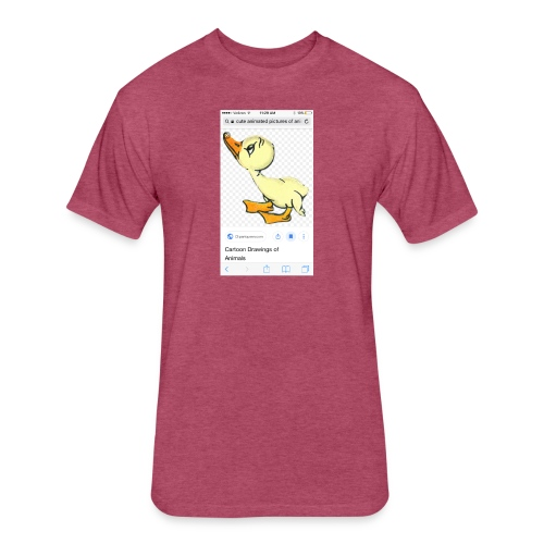Destiny The Duck - Fitted Cotton/Poly T-Shirt by Next Level