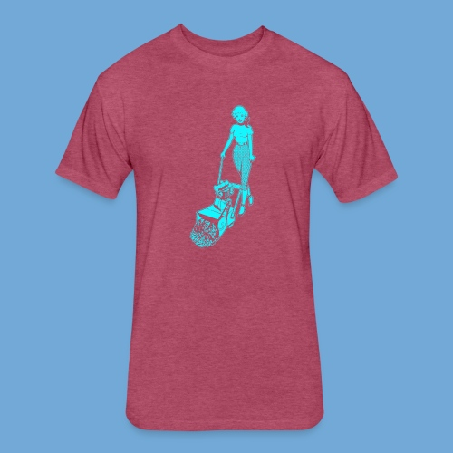 Roto-Hoe Cyan. - Fitted Cotton/Poly T-Shirt by Next Level